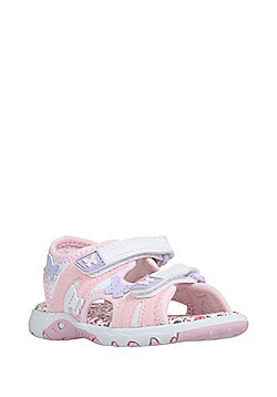 F&F Butterfly and Floral Trekker Sandals - Pink