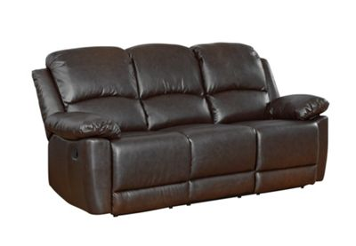 Sofa Collection Lucerne Recliner Sofa - 3 Seat - Black