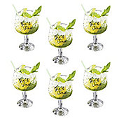 Gin and Tonic Set of 6 Gin Glasses