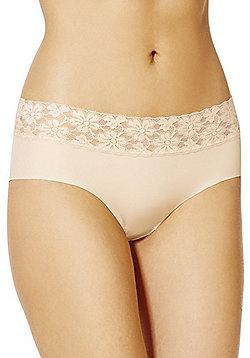 F&F Lace Trim No VPL Shorts - Nude
