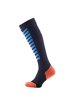 SealSkinz MTB Mid Knee Socks - Black & Blue