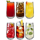 Argon Tableware 'Tallo' Water / Juice Hiball Glasses - Gift Box Of 6 Glasses 480ml (16.9oz)