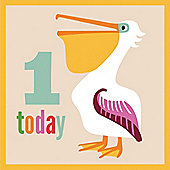 1st Birthday Pelican Card