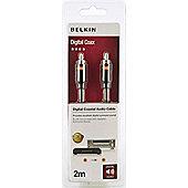 Belkin RCA M/M 2m Black coaxial cable