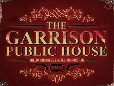 The Garrison Public House Tin Sign 30.5x40.7cm