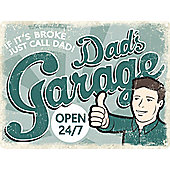 If It's Broke, Just Call Dad Tin Sign 30.5x40.7cm