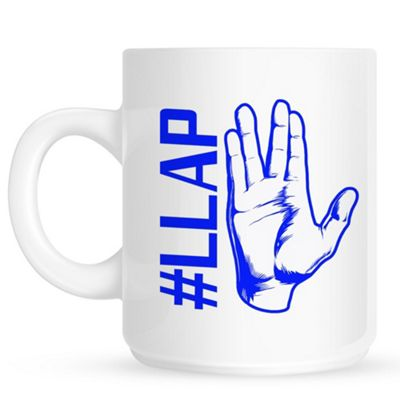 Live Long And Prosper 10oz White Ceramic Mug