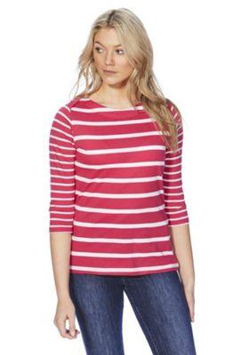 Regatta Parris Striped 3/4 Sleeve Top Pink 12