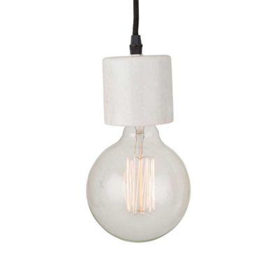 Bahne Pendant Light White Marble