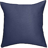 Homescapes Navy Blue Herringbone Chevron Prefilled Scatter Cushion