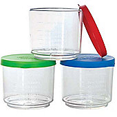 Gowi Toys Measuring Cup with Cover (Pack of 3)