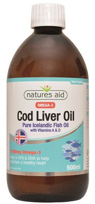 Natures Aid Cod Liver Oil Liquid (with Vitamin A & D) - 500ml