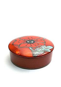 Poole Pottery Poppy Field Trinket Box 14cm