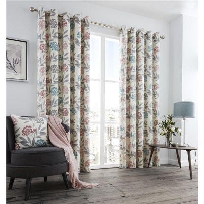 Fusion Karsten Blush 46x54 Inch Eyelet Curtains