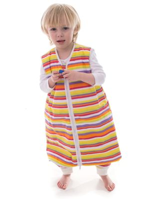 Snoozebag WITH FEET Sleeping Bag 2.5 Tog - Stripes 18-24 Months