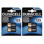 4 x Duracell CR123A CR123 123 3v Lithium Photo Battery
