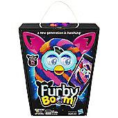 Furby Boom Sunny Diagonal Stripes - Orange Black Purple
