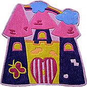 Fairytale Castle Rug 90 x 90 cm