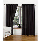 Hamilton McBride Canvas Unlined Ring Top Curtains - Black