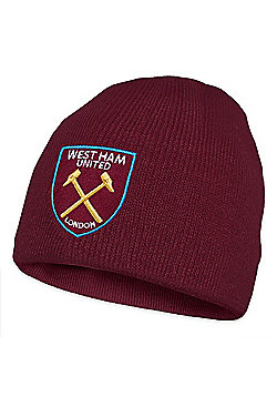 West Ham United FC Knitted Hat - Claret red