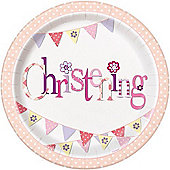 Girl Christening Paper Plates (pack of 8)