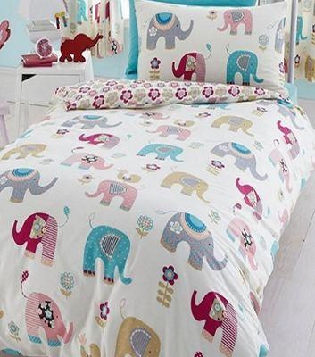 Jumbo Elephant Single Bedding in 100% Brushed Cotton