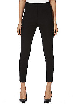 F&F Bengaline Skinny Ankle Grazer Trousers - Black