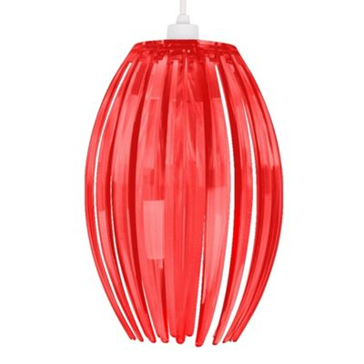 Castas Semi Transparent Ceiling Pendant Shade, Red