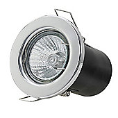 20 x Starmo Chrome Recessed Ceiling Spotlights with Cool White GU10 LED Bulbs