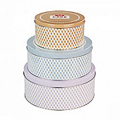 Tala Pale Hues Collapsible Cake Storage Tins, Easy-Storage Canister, Multi-Sized Set of 3 (Multicolor)