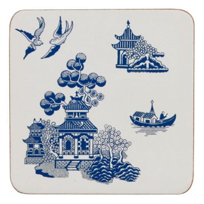 Churchill China Blue Willow Set of 4 Coasters WBMB21011