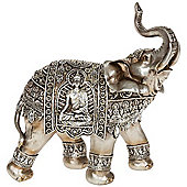 Jaipur - Decorative Indian Elephant Ornament - Silver