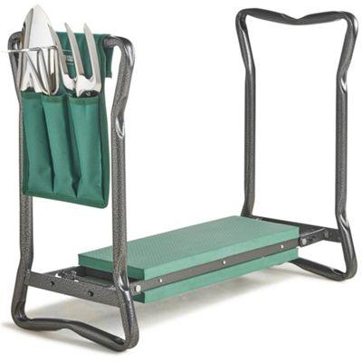 VonHaus Folding Portable Garden Kneeler with 3Pc Tool Set