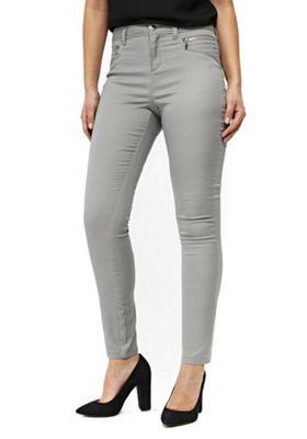 Wallis Zip Detail Trousers Grey 12