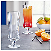 Fox & Ivy Crystal Glass Pack of 4 Hurricane Cocktail Glasses