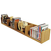 Virgil - Cd / Dvd / Blu-ray / Video Media Wall Storage Shelf - Oak