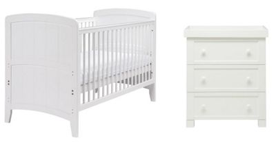 East Coast Venice 2 Piece Nursery Room Set (White)