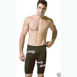 38e287ff61c4d Scala Mens Shapewear Anti-Cellulite Slimming Underwear Compression Shorts  Medium