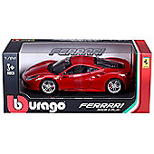 Bburago 1:24 Scale - Ferrari 488 GTB - Red B18-26013