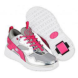 Heelys Force Silver/Grey/Pink Heely Shoe - Grey
