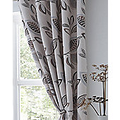 Leaf Trail Eyelet Curtains 90s - Natural