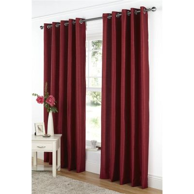 Buy Dreams And Drapes Java Lined Eyelet Faux Silk Curtains