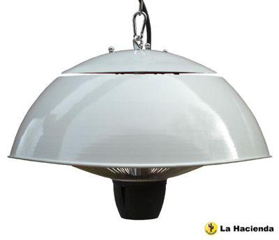 La Hacienda White Ceiling Mounted Halogen Heater