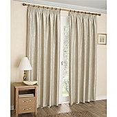Enhanced Living Apollo Lined Pencil Pleat Curtains - Cream