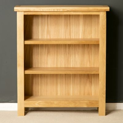 London Oak Bookcase Low Light