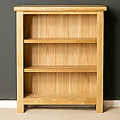 London Oak Low Bookcase - Light Oak