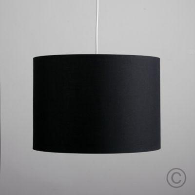 MiniSun Large 35cm Ceiling Pendant Rolla Shade, Black