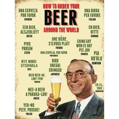 Order A Beer Large Metal Sign - 30x40cm