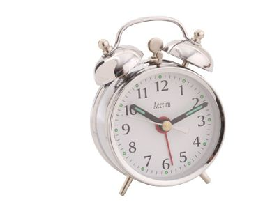 Acctim 25457S Minibell Springwound Alarm Clock Silver