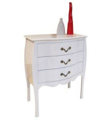 Altruna Murano Chest of 3 Drawers - White
